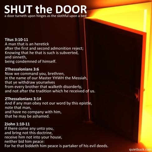 YHWH - ShutTheDoor