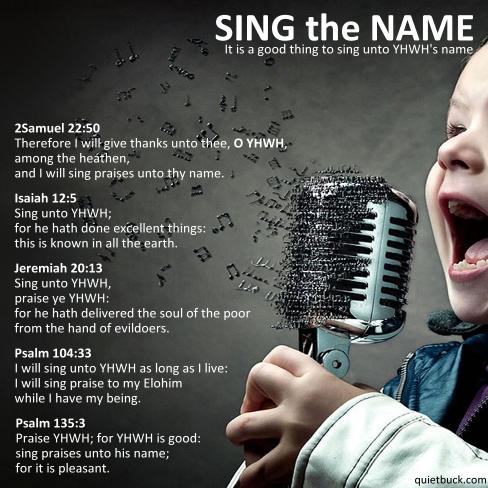 YHWH - SingTheName